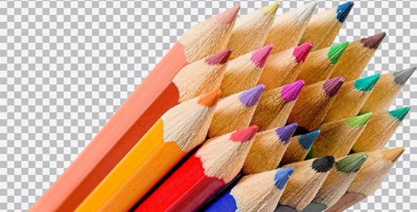 تصویر PNG کلوزآپ مداد رنگی