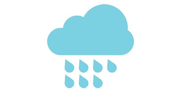 آیکون ابر و هوای بارانی