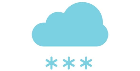 آیکون ابر و بارش برف