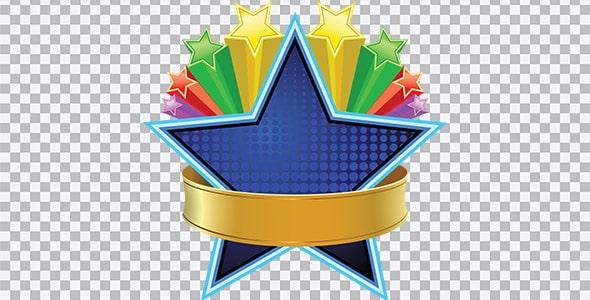 تصویر PNG ستاره رنگی و گرافیکی