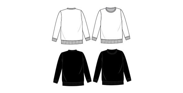 وکتور طراحی فلت سویشرت و لباس زمستانی