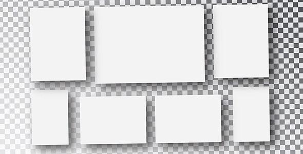 وکتور مجموعه برگه یا کاغذ سفید و خالی