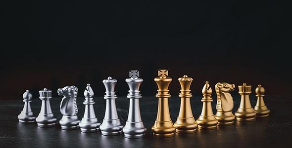 تصویر پس زمینه مجموعه مهره های شطرنج