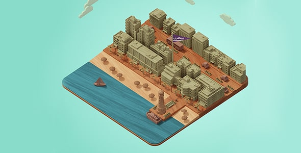 فایل لایه باز ماکت و مدل مینیاتوری شهر