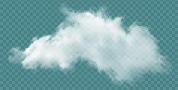 تصویر PNG ابر سفید و هوای ابری