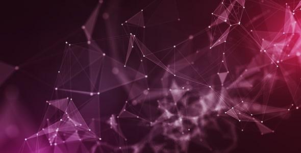 تصویر اشکال هندسی با مفهوم ارتباطات و شبکه