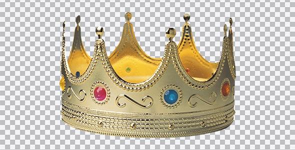 تصویر PNG تاج قدیمی پادشاهی با نگین