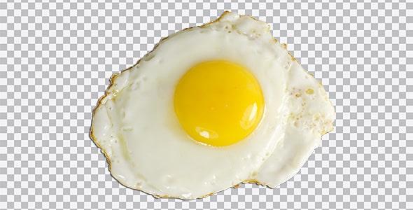 تصویر PNG نمای بالا تخم مرغ نیمرو