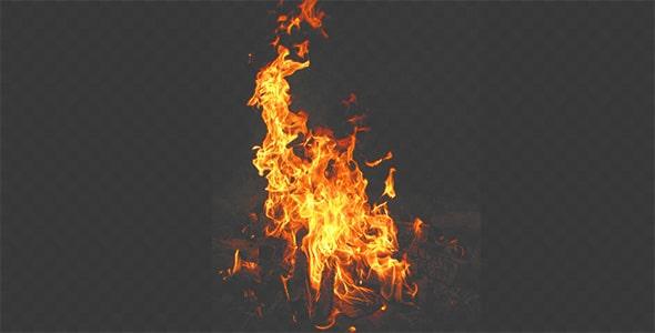 تصویر PNG شعله آتش و زغال سوخته