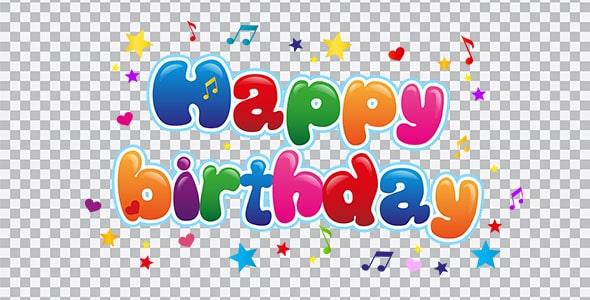تصویر PNG تولد و Happy Birthday