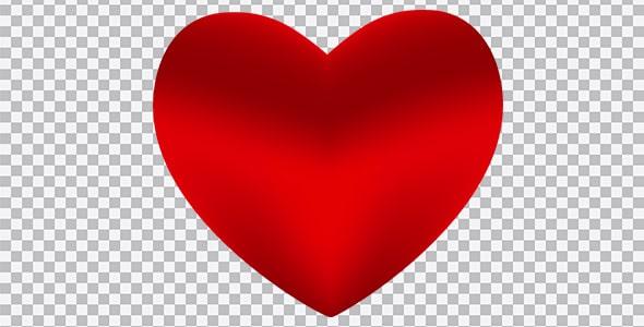 تصویر PNG قلب قرمز با رنگ گرادینت