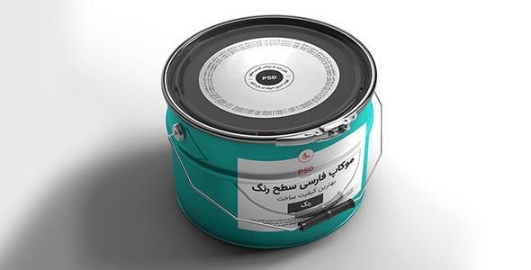 فایل لایه باز موکاپ فارسی سطل رنگ