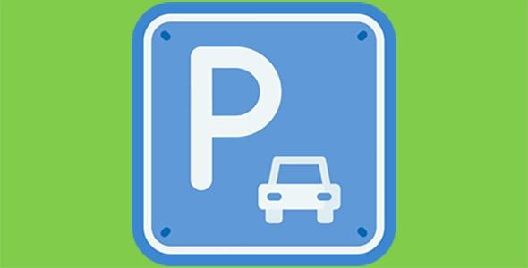 آیکون تابلو راهنمایی محل پارکینگ خودرو