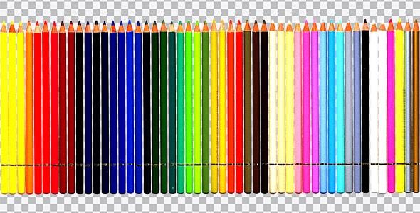 تصویر PNG مداد رنگی 50 رنگ