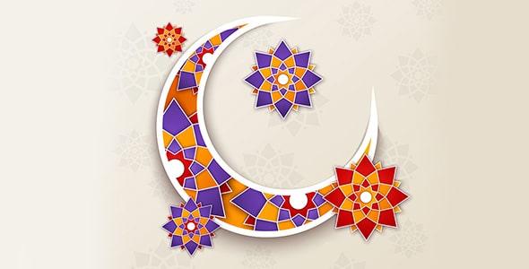 وکتور فارسی پوستر و طرح گرافیکی ماه رمضان