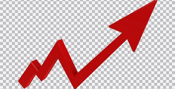 تصویر PNG فلش و نمودار رشد