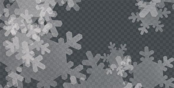 تصویر PNG مجموعه دانه برف و زمستان