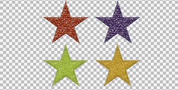 تصویر PNG مجموعه ستاره رنگی براق