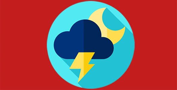 آیکون هواشناسی و هوای طوفانی