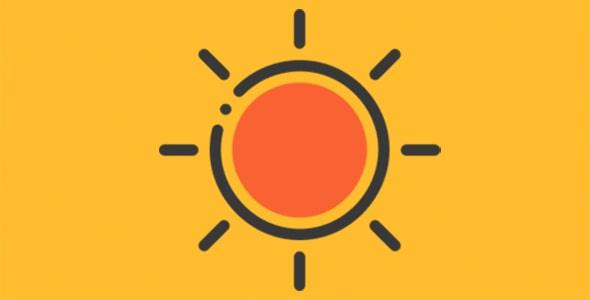 آیکون هوای آفتابی و هواشناسی