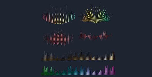 وکتور مجموعه رقص نور موزیک و آهنگ رنگارنگ