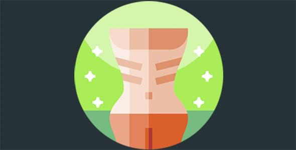 آیکون آناتومی بدن و بیماری بی اشتهایی