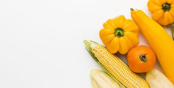 تصویر پس زمینه نمای بالا مجموعه سبزیجات