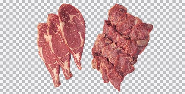 تصویر PNG نمای بالا گوشت گاو