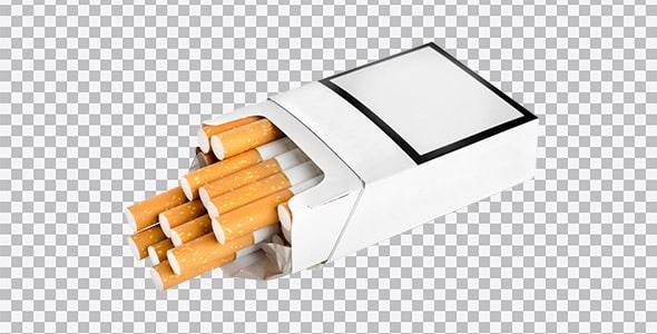 تصویر PNG پاکت سیگار باز