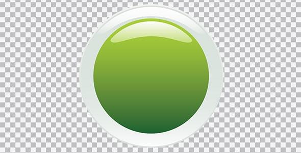 تصویر PNG دایره سبز براق