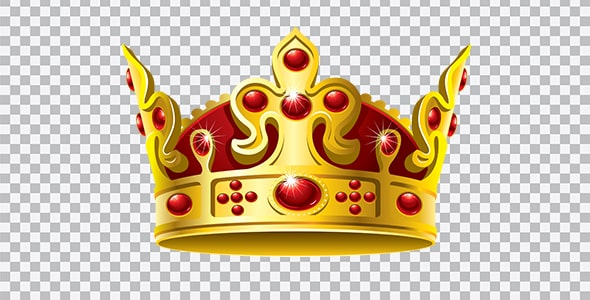 تصویر PNG تاج طلایی پادشاهی ترنسپرنت