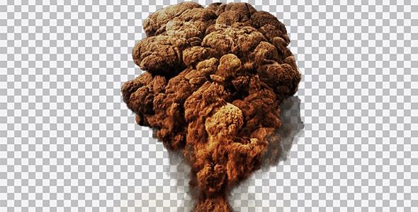 تصویر PNG انفجار بزرگ و دود غلیظ