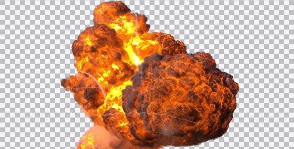 تصویر PNG ترنسپرنت انفجار بزرگ و دود