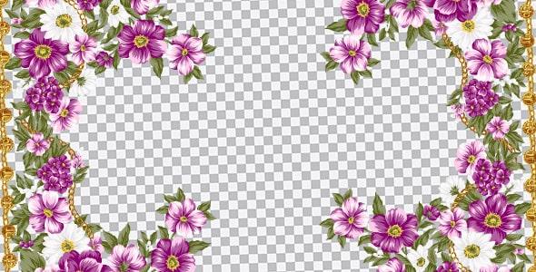 تصویر PNG فریم و قاب طرح گل