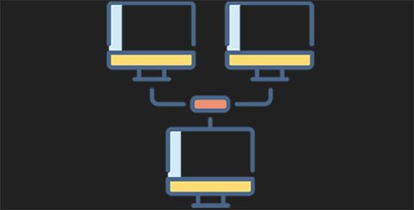 آیکون شبکه محلی یا شبکه داخلی