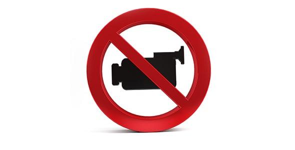 تصویر پس زمینه نماد فیلمبرداری ممنوع