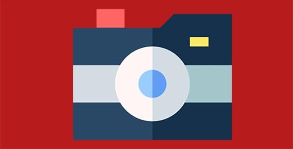 آیکون دوربین با مفهوم عکاسی