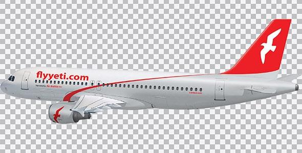 تصویر PNG هواپیمای ایر عربیا