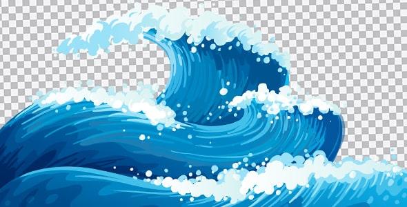 تصویر PNG امواج خروشان دریا