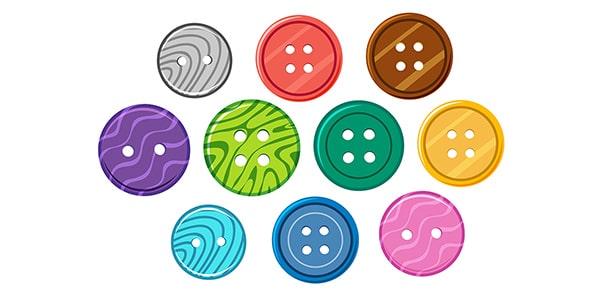 وکتور مجموعه دکمه های رنگی