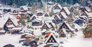 تصویر فصل زمستان در روستای شیراکاواگو