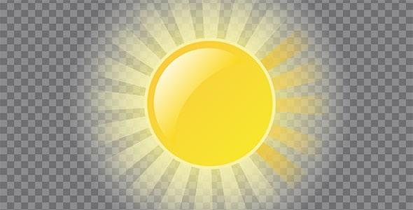 تصویر PNG بازتاب و تلالو نور خورشید