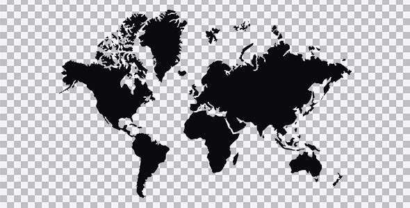 تصویر PNG طرح نقشه کشورهای جهان