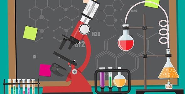 وکتور آزمایشگاه زیست شناسی و شیمی