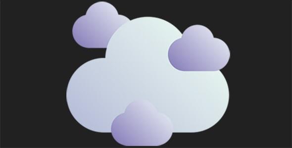 آیکون ابر و هوای ابری