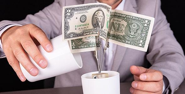 تصویر پس زمینه با مفهوم سود سپرده