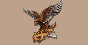 وکتور تصویرسازی پرواز عقاب