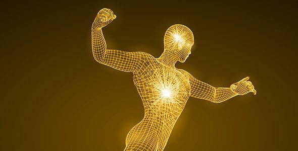 وکتور انسان با مفهوم تکنولوژی و انرژی