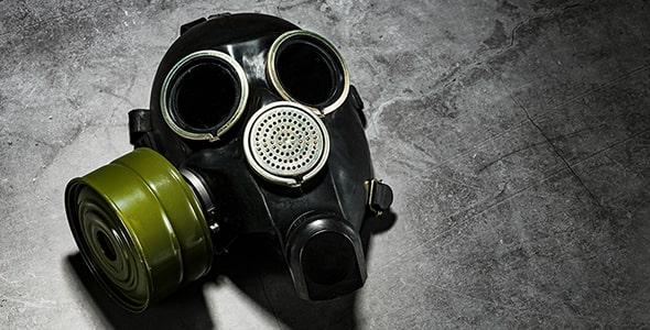 تصویر پس زمینه ماسک گاز با فیلتر