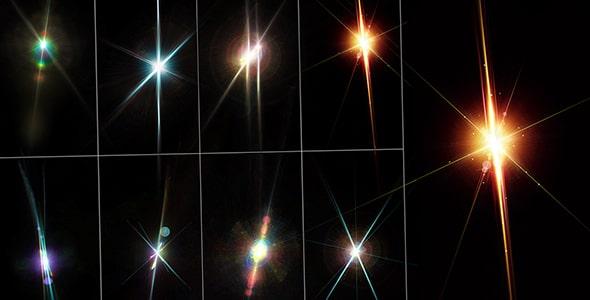 فایل لایه باز مجموعه افکت نور رنگی